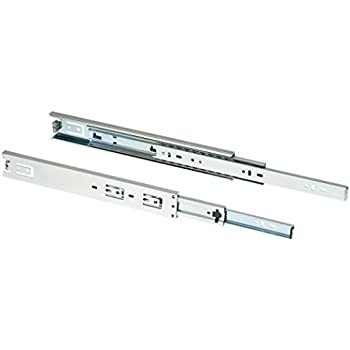 Shop Fox D3067 22-Inch Full-Ext Drawer Slide 100-Pound Capacity Side Mount, Pair
