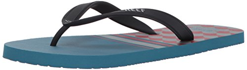 Reef Mens Switchfoot Prints Sandal Blue/Red 6iObwSt