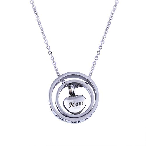 - Winner666 Fashion Necklace, Double Heart Rose Gold Crab Cylinder Necklace Pendant Souvenir Ashes for Parents Gifts (B)