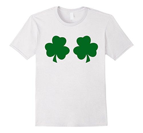 Mens Irish Shamrock Boobs Funny St. Paddy's Day T-shirt Medium (St Pattys Day Shirt)