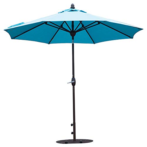 SORARA Patio Umbrella 11 Feet Outdoor Table Market Umbrella with Push Button Tilt&Crank&Umbrella Cover, 8 Ribs, Aruba