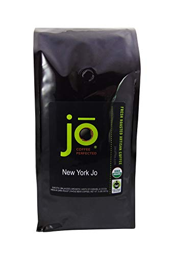NEW YORK JO: 2 lb, Medium Dark Roast, Whole Bean Coffee, 100% Arabica Beans, USDA Certified Organic, NON-GMO, Fair Trade Certified, Signature House Blend, Gourmet Coffee from the Jo Coffee Collection