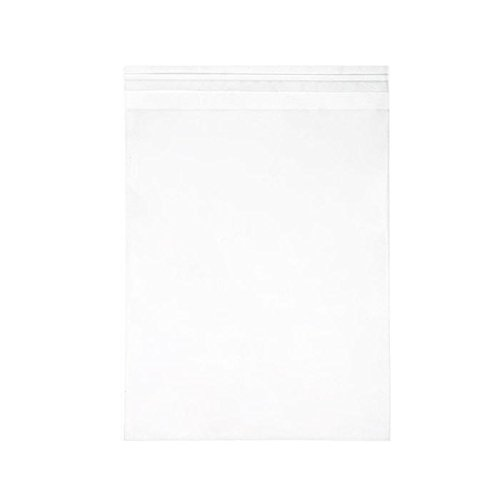 ClearBags 8 1/4 x 10 1/8 + Flap Crystal Clear Seal Top Bags with Resealable Adhesive on Flap, Not Bag | Protects Photos, Artwork, Crafts, Favors | Acid Free and Archival Safe | B108SA (1 Pack of 100)