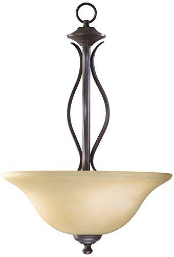 Quorum International 8110-3-44 Spencer 3 Light Pendant, Toasted Sienna ()