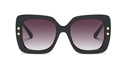 Freckles Mark Square Sunglasses for Women Rectangular Plastic Frame (Black, - Sunglasses Mark