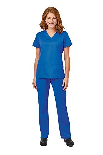 Stretch Set - Elements by Alexander's Uniforms EL9925 Women's Four Way Stretch Scrub Set (Royal Blue, Medium)