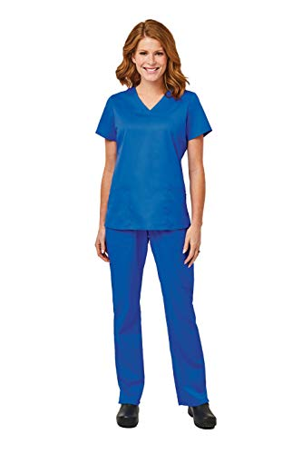 - Elements by Alexander's Uniforms EL9925 Women's Four Way Stretch Scrub Set (Royal Blue, X-Large)