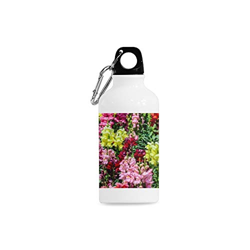 WJJSXKA Outdoor Simple Fashion Travel Snapdragon Red Vintage Flower Print Design Sport Water Bottle Aluminum Stainless Steel Bottle Aluminum Sport Water Bottle