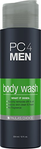 Paula's Choice PC4MEN 2-in-1 Body Wash and Shampoo for Men, 12 Once Bottle, Fragrance Free & Soap-Free Hair and Skin Softening All-In-One Cleanser