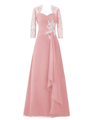 The Of Prom Bride Lace S Gowns Dresses Mother Applique H Long Jacket With Blush D 8aqx0S
