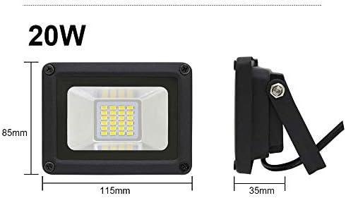 WCT 20W Luces de Seguridad de Proyector LED UltraSlim Iluminación ...