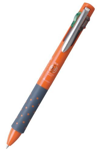 Tombow 4 Colors Ballpoint Pen, Reporter Smart 4 0.5, Black, Red, Blue, Green, Orange Body (BC-FRLE54)