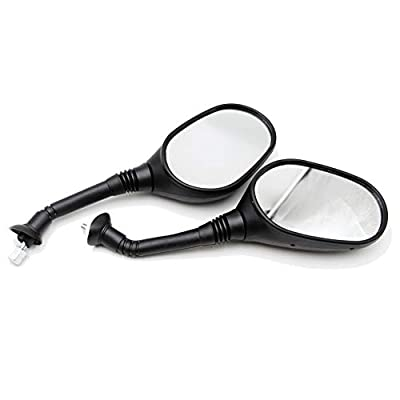 8mm Rear View Mirror, PRO BAT, Motorcycle Scooter ATV Dirt Bike Rearview Mirror for GY6 50cc 125cc 150cc 250cc Scooter Moped Motorcycle (1 pair): Automotive