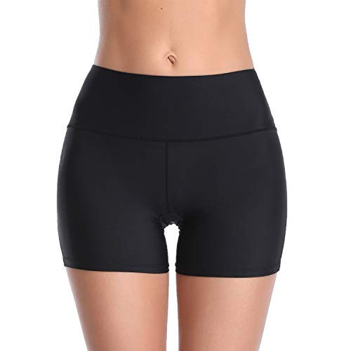 (Boyshorts Panties for Women Underwear Stretch Smooth Slip Shorts Shapewear Seamless (Black, XL))