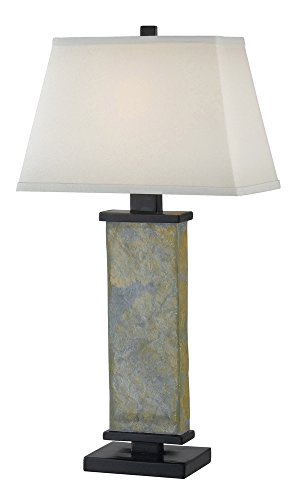 Kenroy Home 21037SL Hanover Table Lamp, Natural Slate