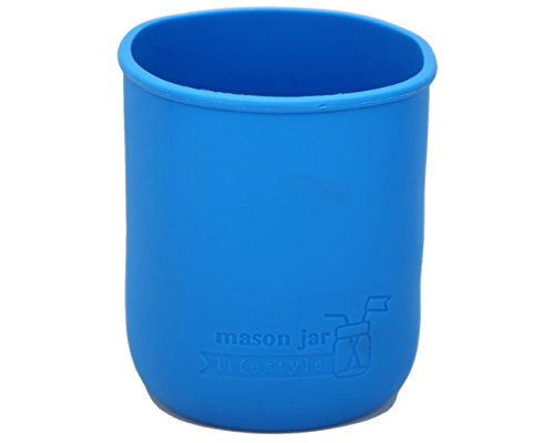 MJL Quart Silicone Sleeve for Mason Jars (Bright Blue, 2 Pack) (My Washing Machine Won T Fill With Water)