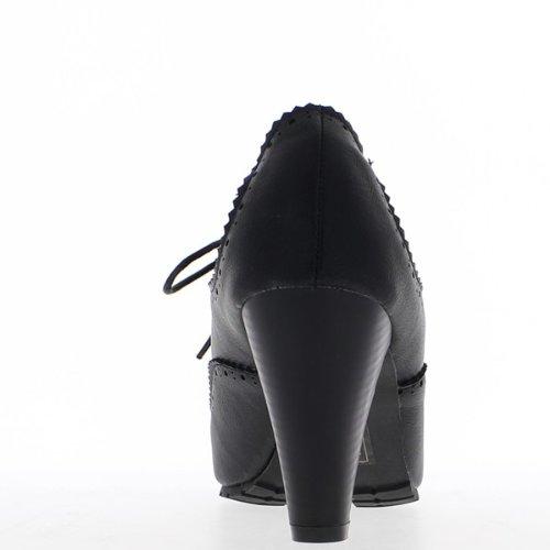 Tacco di 8,5 cm di Richelieux donna nera