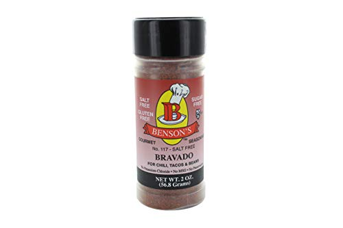 (Bravado Tex-Mex Chili Salt-Free Seasoning (2 oz Bottle))