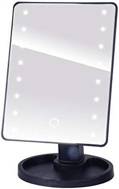 美容メイクアップのための調節可能な16 LEDタッチスクリーンライトアップミラーをLED拡大鏡メイクアップミラー (Color