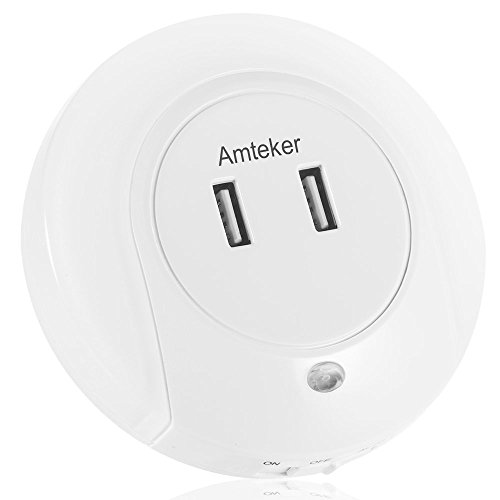 amteker-led-night-light-with-dusk-to-dawn-sensor-and-dual-usb-wall-plate-charger