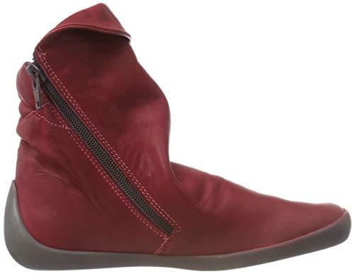 Rojo 008 Washed Botines Nat332sof para Scarlet Mujer Softinos Leather xRqfwYOn