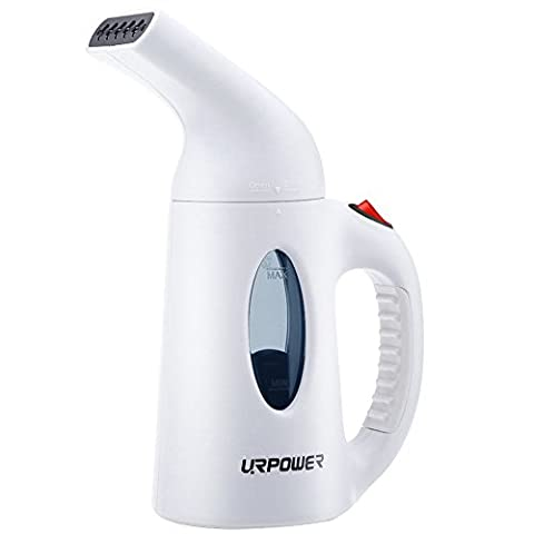 URPOWER Garment Steamer 130ml Portable Handheld Fabric Steamer Fast Heat-up Powerful Travel Garment Clothes Steamer with High Capacity for Home and Travel, Travel Pouch (Y Clothes)