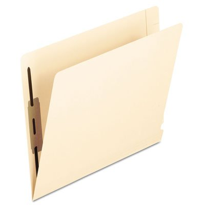 Laminated Spine End Tab Folder with 2 Fasteners, 14 pt Manila, Letter, 50/Box