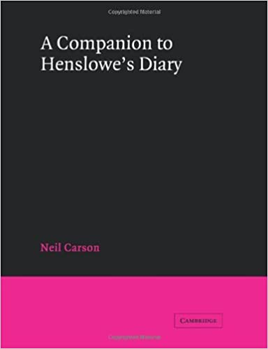 A Companion to Henslowes Diary