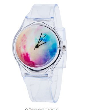 [Transparent Multi Color Silicone Quartz Wrist Watch For Student Boys Girls] (Girl Popeye Costume)
