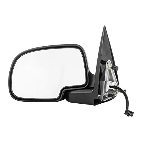 Left Driver Side Mirror for Chevy Avalanche Silverado GMC Sierra 1500 2500 (1999 2000 2001 2002) Chrome Non-Heated Power Folding Outside Rear View Door Mirror - GM1320174