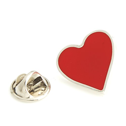 (The Smart Man Men's Red Heart Shaped Lapel Pins )