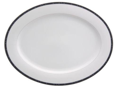 Nikko Perennial Indigo Fine China Oval Platter