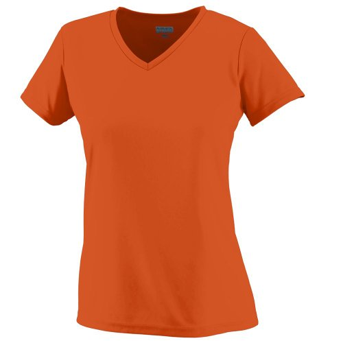 Augusta Sportswear Women's Wicking T-Shirt, Power Orange, - Augusta Women