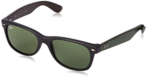 Ray-Ban RB2132 New Wayfarer Non Polarized Sunglasses, Matte Havana, Brown 55 - Protection Uv Ray Lenses Ban