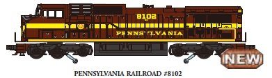Williams by Bachmann GE Dash 9 Diesel - PRR #8102 Train (O Scale) - Dash 9 Diesel Locomotive