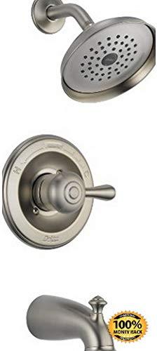 Leland Series Delta (ArtMuseKits 14478-SSSHL 14 Series Tub and Shower Trim, 1, Stainless)