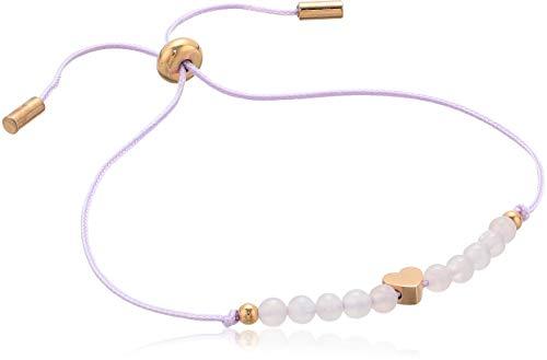 Bracelet Fossil Heart - Fossil Women's Heart Rose Quartz Bangle Bracelet