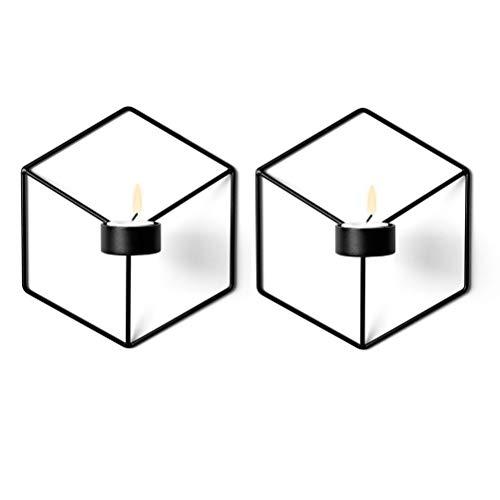 Sziqiqi 3D Geometric Candleholder, Wall-mounted Metal Candleholder, Wall Ornaments (Candle holder 7#)