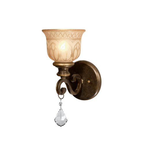 Crystorama 7501-BU-CL-MWP Crystal Accents One Light Wall Sconce from Norwalk collection in Bronze/Darkfinish, 8.50 - Strass Chandelier Crystal Lamp