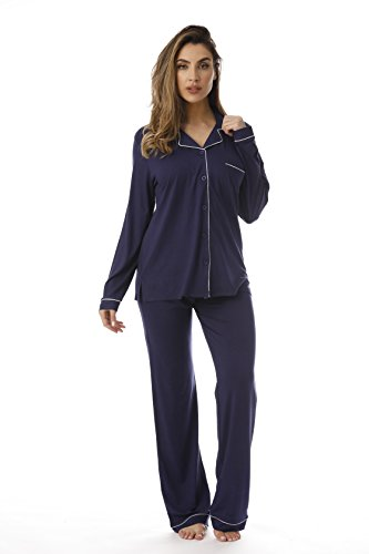 Ladies Pj Set (#followme 601108-NVY-2X Pant Set for Women)