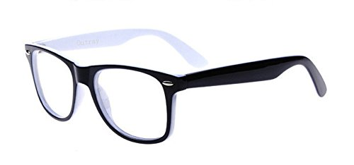Outray Unisex Retro 80 Clear Lens Glasses 2231C6 White