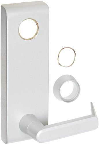 (Stanley Commercial Hardware Stainless Steel Keyed Escutcheon Lever Standard Duty Exit Trim from the QET300 Collection, Sierra Style, Mortise Cylinder Type, Painted Aluminum Finish)