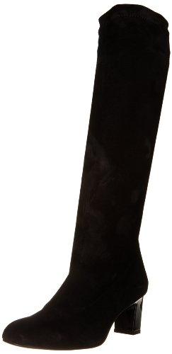 Robert Clergerie Women's Prisca Boot,Black Suede Strap,38.5 EU/8 B US