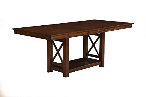 Alpine Dining Table - Alpine Furniture 2727-01 Artisan Dining Table, Pecan Finish