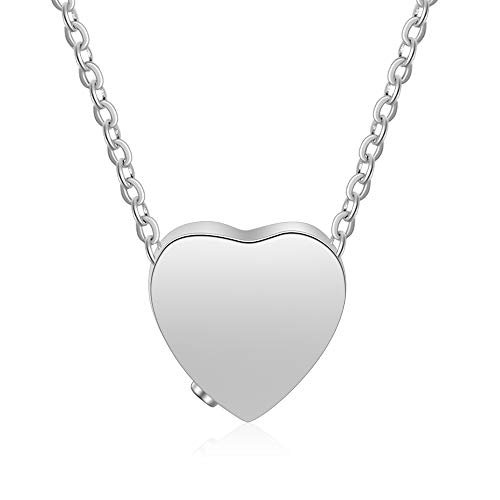 Lam Hub Fong Personalized Heart Keepsake Memorial Necklace Engraved Cremation Urn Ashes Jewelry Necklace Ashes