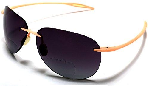 Samba Shades Maui Sports Aviator Bi-Focal Sun Readers Sunglasses Ultra Flex TR90 Pink - Shades Maui