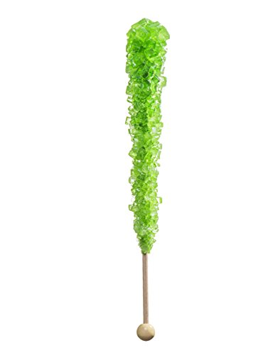 Candy Buffet Store - Rock Candy on a Stick, Swizzle Sticks - Pack of 12 (Green Apple)
