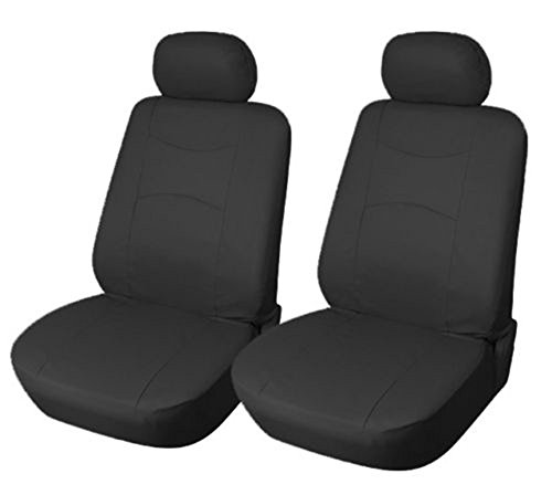 OPT® Brand. Vinyl Leather 4PC SET Mazda Front Car Auto Seat Covers, Black Color, CMA7159-BK. Free Shipping From New York.