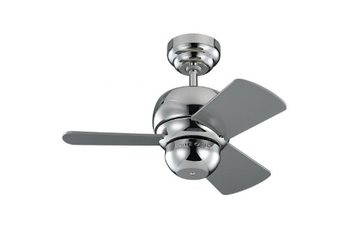 Monte Carlo Polished Ceiling Fan - Monte Carlo 3TF24PN Micro 24 inch Ceiling Fan, Indoor/Outdoor, Polished Nickel