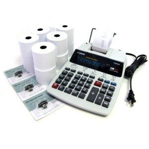 Desktop Office Printing Calculator Model P180 Special Package with 6 Rolls Paper /& 3 Ink Rolls